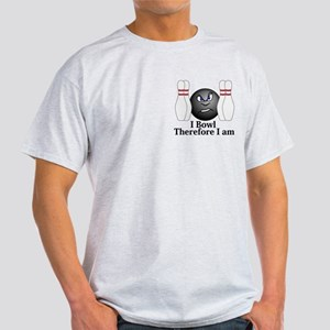 I Bowl Therefor I Am Logo 3 Light T-Shirt Design F