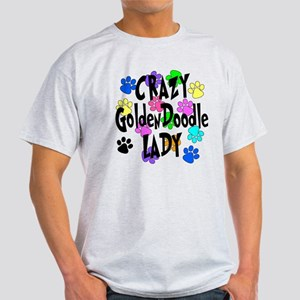 Crazy Goldenddoodle Lady Light T-Shirt