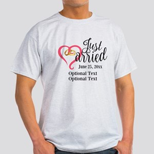 Just Married Custom Light T-Shirt