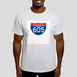 Interstate 605 - CA Ash Grey T-Shirt
