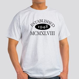 Established 1948 -- Happy Birthday Light T-Shirt