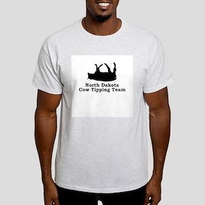 North Dakota Cow Tipping Light T-Shirt