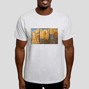 Monet Painting, Rouen Cathedral, Women's Dark T-Sh