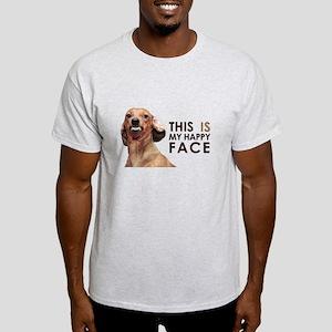 Happy Face Dachshund Light T-Shirt