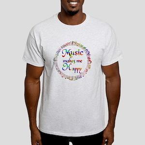 Music makes me Happy Light T-Shirt