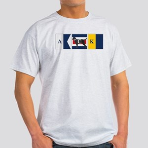 Preppy Lab Dog ACK Signal Flag T-Shirt