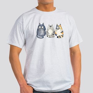 Three 3 Cats Light T-Shirt