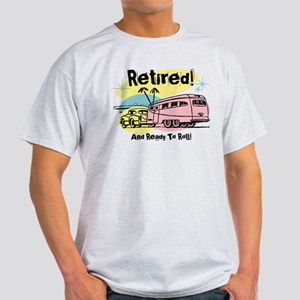 Retro Trailer Retired Light T-Shirt