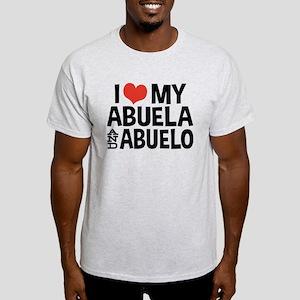 I Love My Abuela and Abuelo, Light T-Shirt