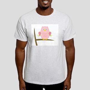 Owl (pink) Light T-Shirt