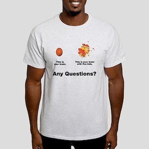 Brain with five kids Light T-Shirt