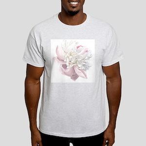 Elegant White Peony Light T-Shirt