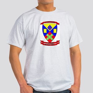 2nd Battalion 5th Marines with Text Light T-Shirt