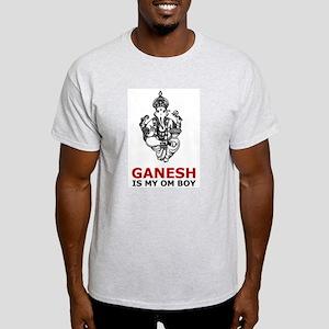 Ganesh Is My Om Boy Ash Grey T-Shirt