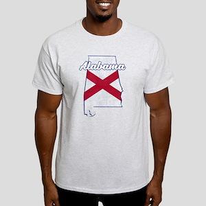 Alabama State Flag Vintage Outline T-Shirt