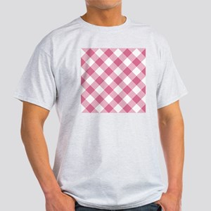 Pale Violet Red and White Gingham Light T-Shirt
