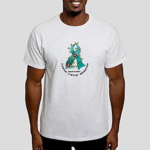 Flower Ribbon OVARIAN CANCER Light T-Shirt