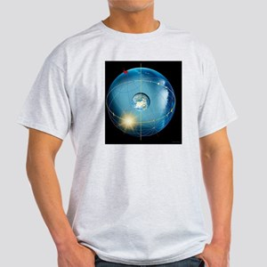Earth's rotation, artwork - Light T-Shirt