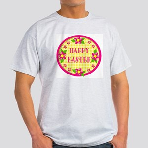 Yellow Gingham: Happy Easter Light T-Shirt