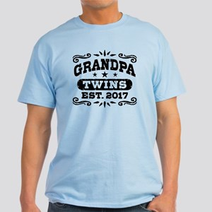 Grandpa Twins Est. 2017 Light T-Shirt