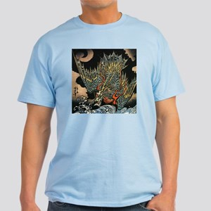 Vintage Hokusai Dragon Light T-Shirt