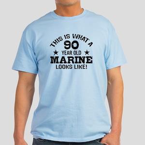 90th Birthday Marine Light T Shirt