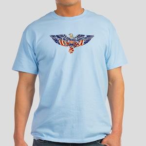 Retro Eagle and USA Flag Light T-Shirt
