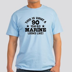 90th Birthday Marine Light T-Shirt