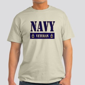 Navy Veteran Block Light T-Shirt