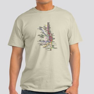 Chicago CTA System Map Light T-Shirt