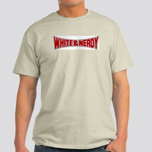 White and Nerdy Ash Grey T-Shirt