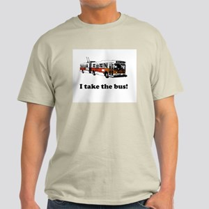 I Take the Bus! Natural Color T-Shirt