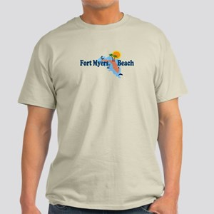 Fort Myers Beach FL Light T-Shirt