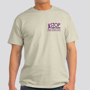 Stop Domestic Violence 2 Light T-Shirt