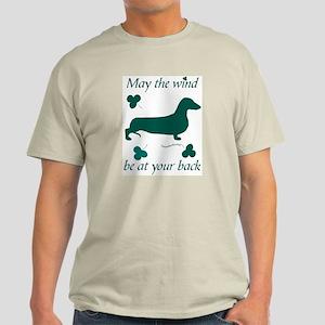 Dachsie and Shamrocks Light T-Shirt