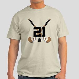 Field Hockey Player Number 21 custom sports logo.