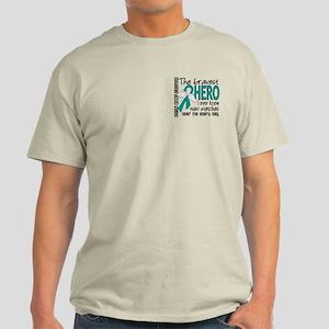 Bravest Hero I Knew Ovarian Cancer Light T-Shirt