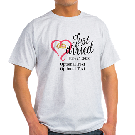Just Married Custom Light T-Shirt