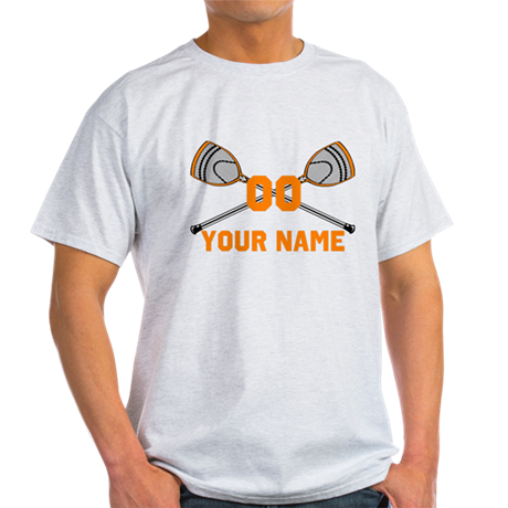 Personalized Crossed Goalie Lacrosse Sticks Orange