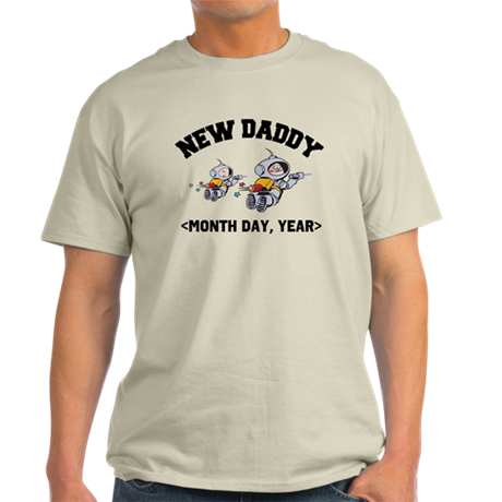 Personalized New Daddy Light T-Shirt