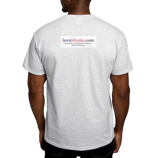 Physics Cheat Sheet Ash Grey Light T-Shirt