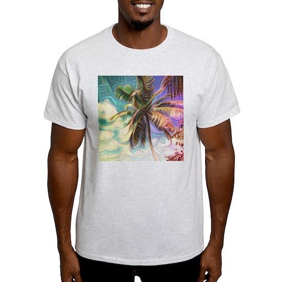 Abstract Rainbow Palm Tree Men's Value T-Shirt