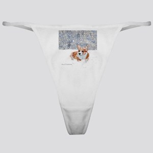 Corgi Winter Snow Classic Thong