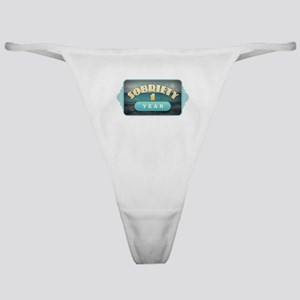 Sober 1 Year - Alcoholics Classic Thong