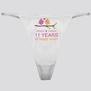 11th Anniversary Personalized Classic Thong