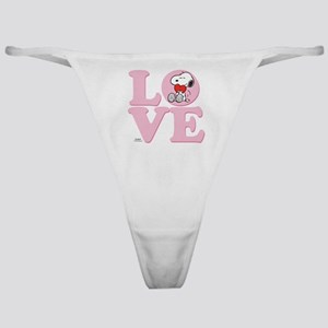 LOVE - Snoopy Classic Thong