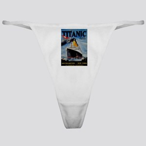 Vintage Titanic Travel Classic Thong