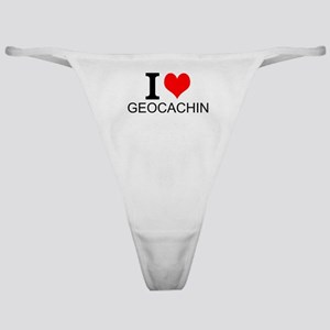 I Love Geocaching Classic Thong