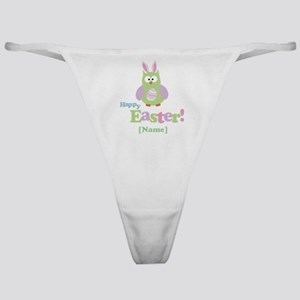 Personalized Happy Easter Owl Classic Thong