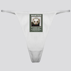 Ferret Wanted Poster Classic Thong